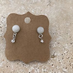 Jewelry - Hand-Crafted Moonstone Stud Earrings